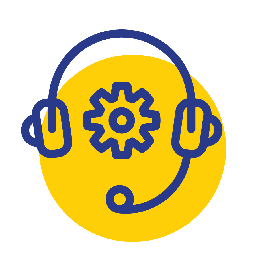 LPE Call Center Icon Yellow png