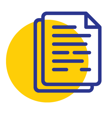 LPE Document Bill Icon Yellow